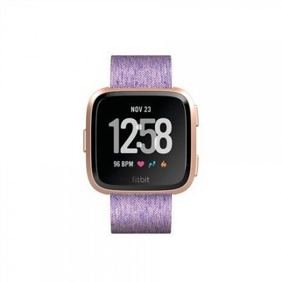 Fitbit Versa (NFC) smartwatch Color LCD, Touchscreen, Bluetooth, Heart rate monitor, Special Edition Lavender Woven