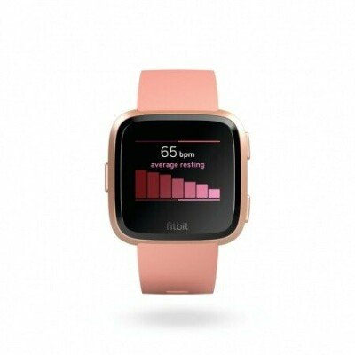 Fitbit Versa (NFC) smartwatch Color LCD, Touchscreen, Bluetooth, Heart rate monitor, Peach / Rose Gold Aluminum