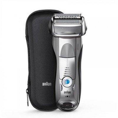 Braun Series 7 Shaver 7893s Wet use, Rechargeable, Charging time 1 h, Li-Ion, Battery powered, Number of shaver heads/blades 1, Silver
